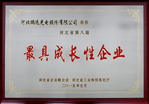 2015年5月河北省第八届最具成长性企业