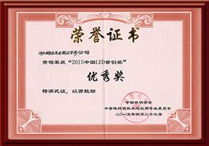 2015年中国LED首创奖优秀奖