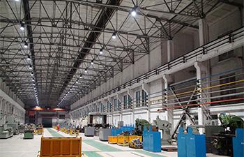 中铁山桥生产车间LED照明系统解决方案