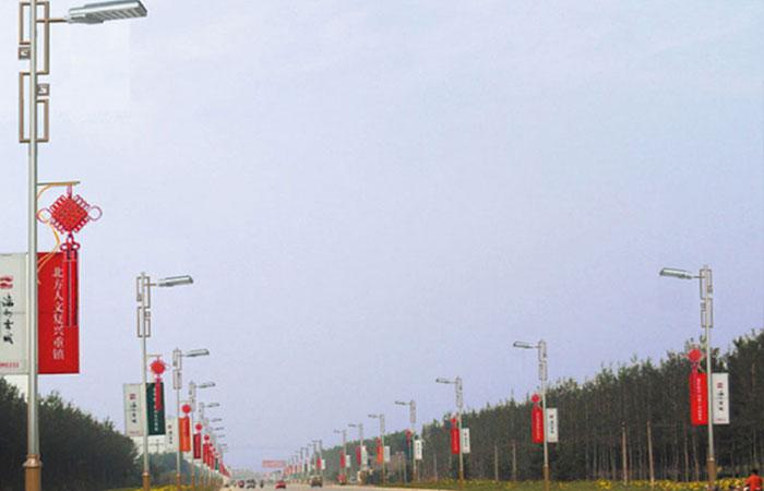 滦州古城平青大LED路灯照明系统解决方案