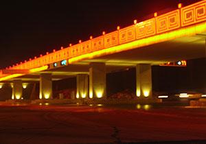 滦州古城立交桥LED景观亮化系统解决方案